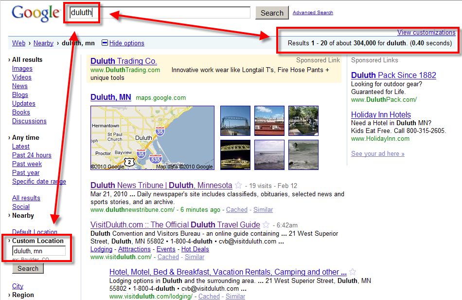 Google Fiber Duluth Search Engine - NorthStarNerd.Org